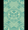 seamless floral antique pattern blue light vector image vector image