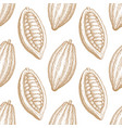 seamless pattern with cocoa fruits vector image vector image