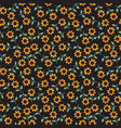 seamless sunflower pattern vector image vector image