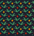 seamless tulips pattern vector image vector image