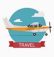 Seaplane Travel Icon vector image vector image