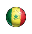 senegalese flag football - soccer ball vector image