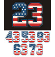 set athletic number vector image