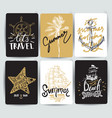set hand drawn stickers summer vector image vector image