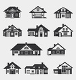 Set of single-storey houses vector image vector image