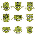 set of vintage olive oil emblems design element vector image vector image