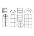 set of windows vector image vector image