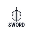 shield sword logo design inspiration vector image