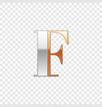 silver and gold font symbol alphabet letter f vector image