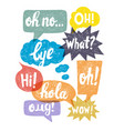 sketch speech bubbles vector image