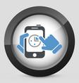 smartphone clock vector image