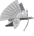 steel knight helmet vector image vector image