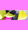 triangles polygonal background 3d poly vector image vector image