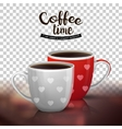 Two cups coffee isolated on transparent vector image vector image