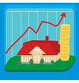 unstable housing market vector image vector image