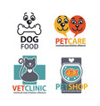 vet shops veterinary clinics and homeless animals vector image vector image