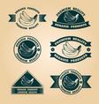 vintage organic harvest stamps set vector image vector image