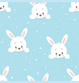 winter pattern cartoon hare vector image