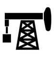 petroleum pump icon black color flat style simple vector image