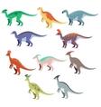 Set of duck dinosaurs vector image