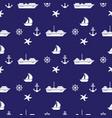 seamless pattern with sea symboles marine vector image