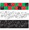 casino items frieze vector image
