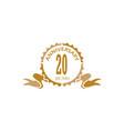 20 years ribbon anniversary vector image