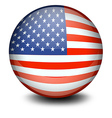 A soccer ball with the flag of the USA vector image vector image