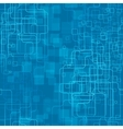 A trendy blue tech styled background vector image vector image