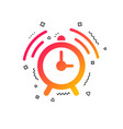 alarm clock sign icon wake up alarm symbol vector image vector image