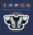 american football equipment vector image vector image