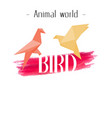animal world bird paper bird background ima vector image