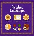 arabic cuisine menu in oriental frame