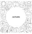 autumn background from line icon vector image