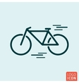 Bicycle icon isolated vector image