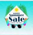biggest summer sale background design vector image