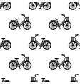 bike with basket seamless pattern vector image