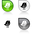 Bird button vector image vector image