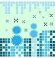 Blue snowmen vector image