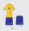 brazil team uniform 01 vector image vector image