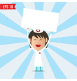 Cartoon nurse showing white board - - EPS10 vector image