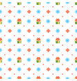 christmas seamless pattern with gift and vector image vector image