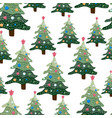 christmas winter landscape seamless pattern and vector image