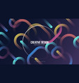 colorful geometric background minimal abstract vector image vector image