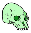 comic cartoon spooky skull vector image vector image