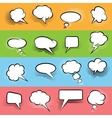 Comic Speech Bubbles Set vector image
