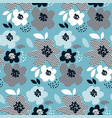 concept abstract floral seamless pattern vector image vector image