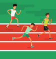 concept of sport and activity people vector image vector image