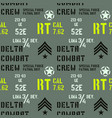 delta combat crew military pattern vector image vector image