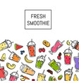 doodle fresh smoothie drink background vector image